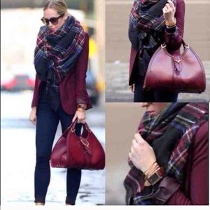 Zara soft plaid blanket scarf